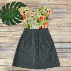 Tabitha green watercolor floral silk sheath dress